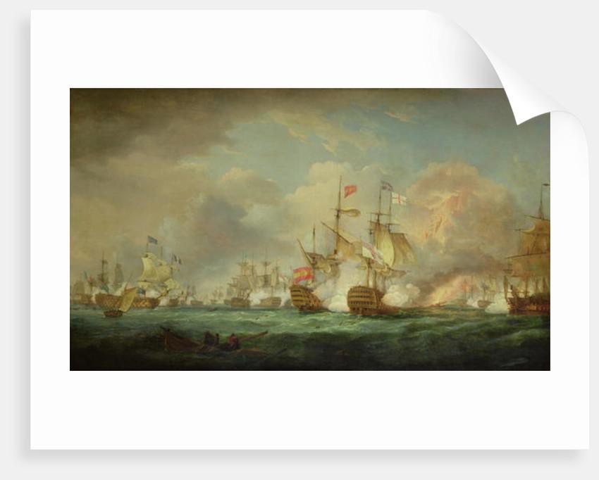 Battle of Trafalgar, 21st Oct. 1805 by Thomas Whitcombe