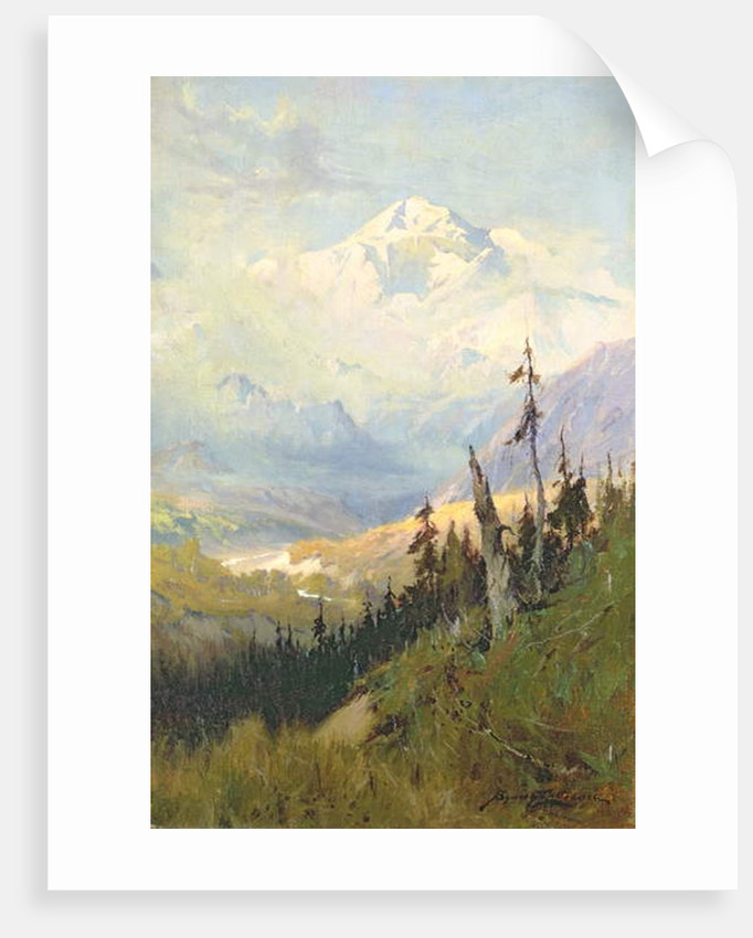An Autumn Day, Mt. McKinley by Sidney Laurence