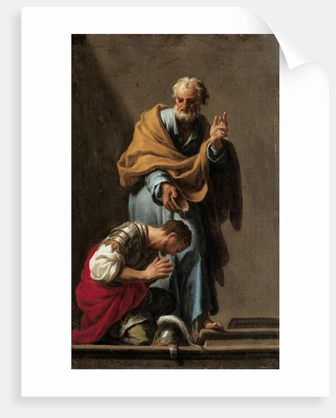 St. Peter Baptising the Centurion Cornelius by Francesco Trevisani