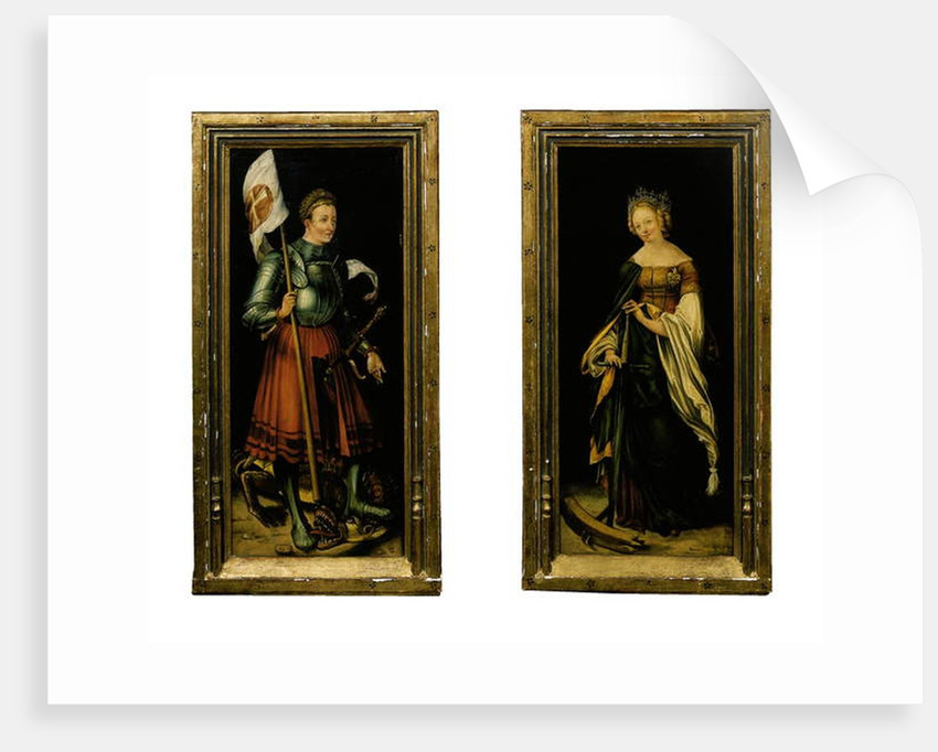 Saint George and Saint Catherine by Hans Suess Kulmbach