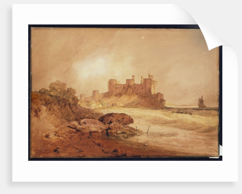 Conway Castle, North Wales, c.1800 by Joseph Mallord William Turner