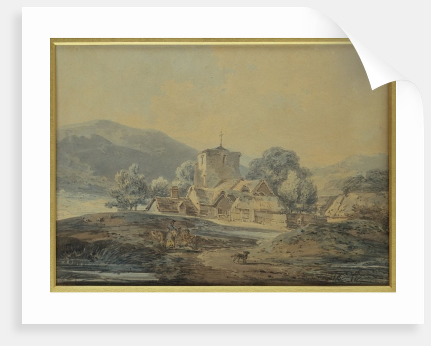 A Country Village Church, c.1794 by Joseph Mallord William Turner