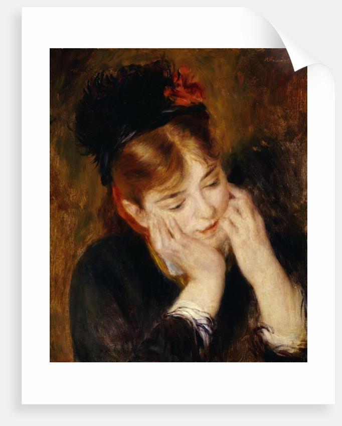 Contemplation, 1877 by Pierre Auguste Renoir