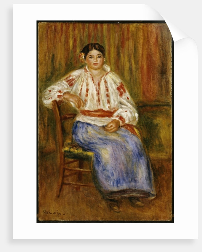 Young Romanian, 1914 by Pierre Auguste Renoir