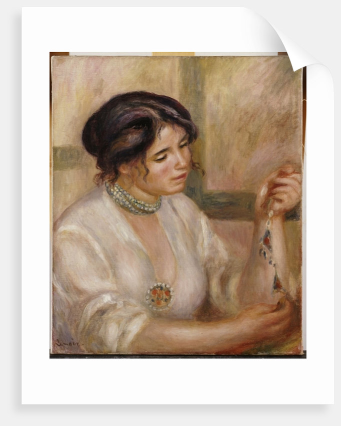 Woman with a Necklace by Pierre Auguste Renoir