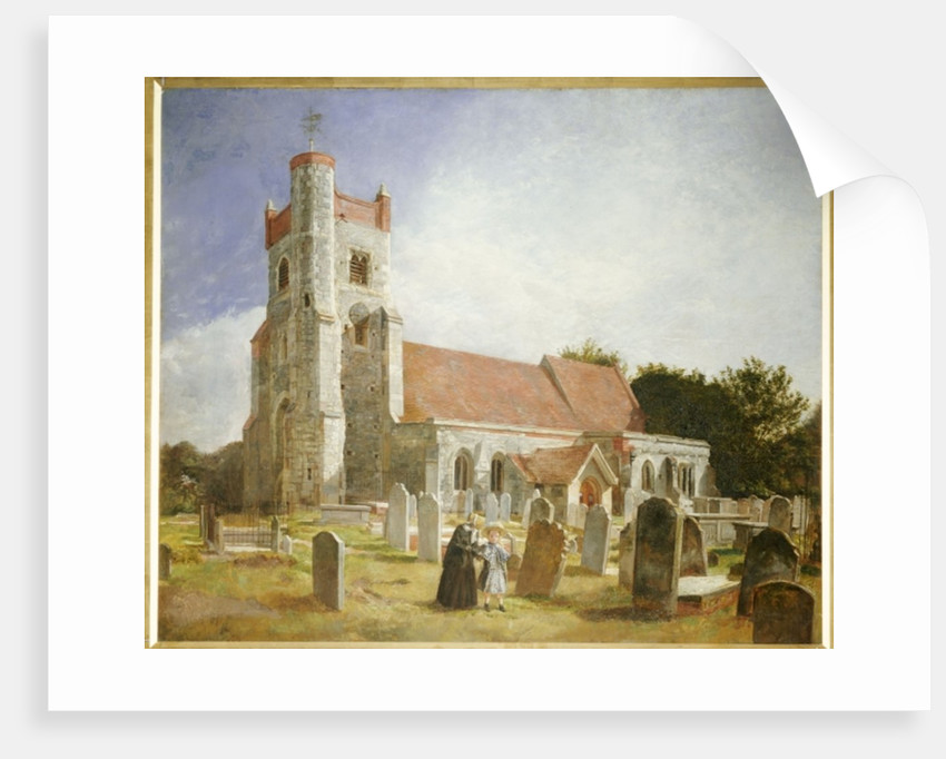The Old Church, Ewell, 1847 by William Holman Hunt