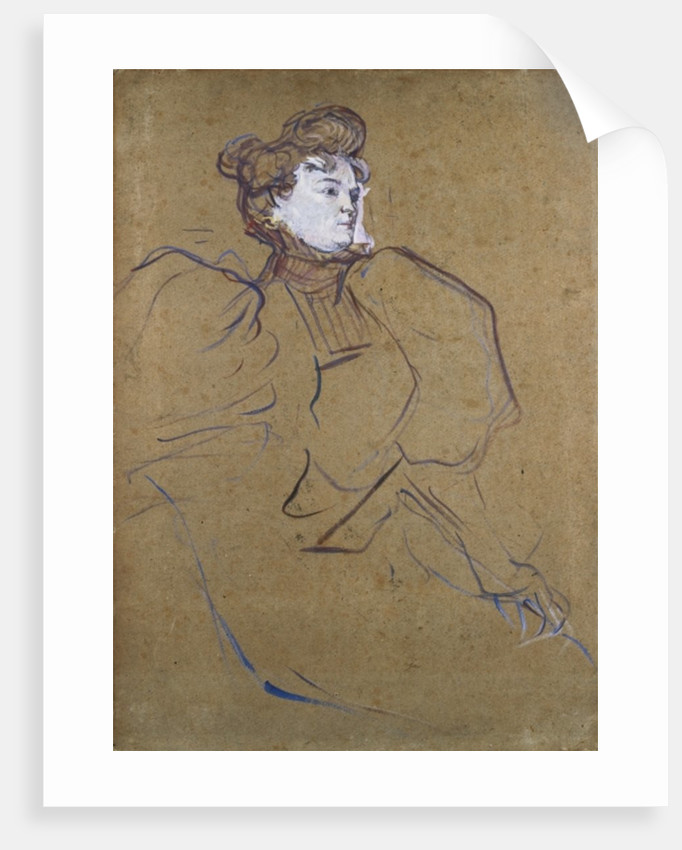 Misia Natanson, c.1897 by Henri de Toulouse-Lautrec