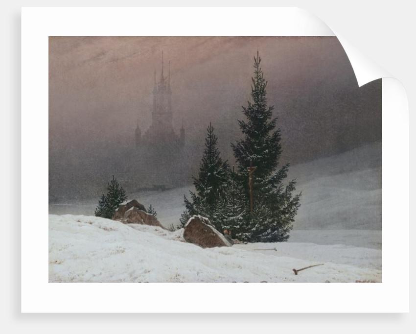 Winter Landscape with a Church, c.1811 by Caspar David Friedrich