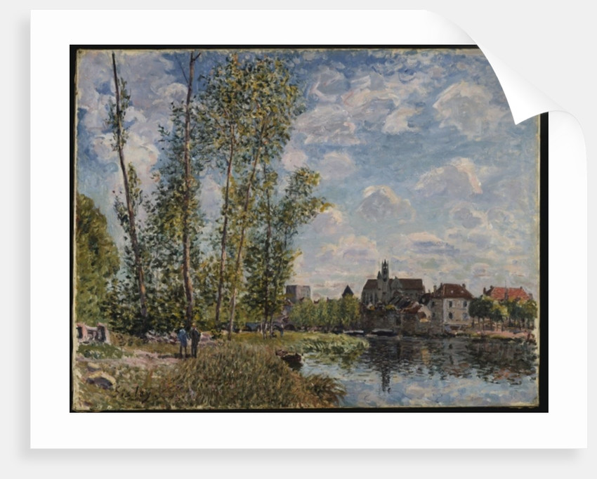 Moret, View of the Loing, Afternoon in May by Alfred Sisley