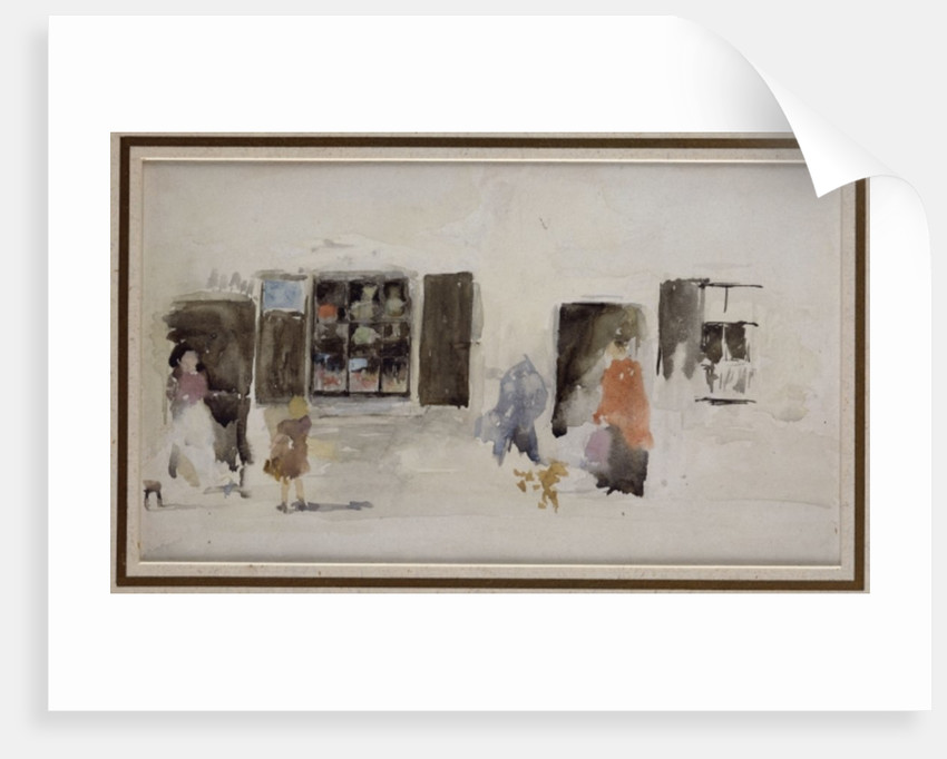 A Brittany Shop with Shuttered Windows by James Abbott McNeill Whistler