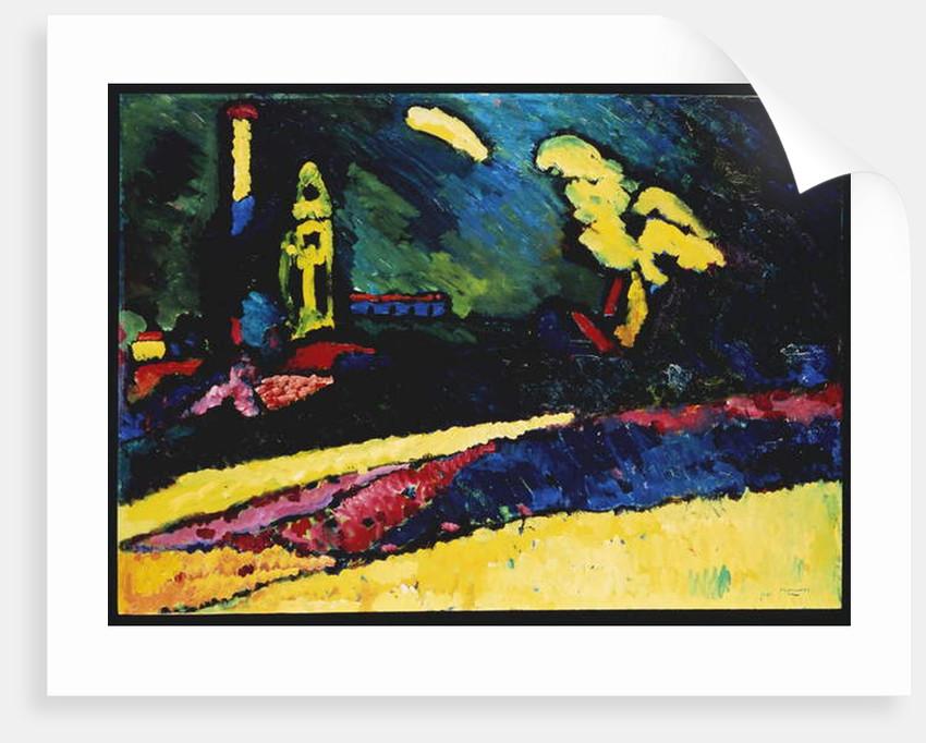 Murnau, Landscape with Church I, 1909 by Wassily Kandinsky