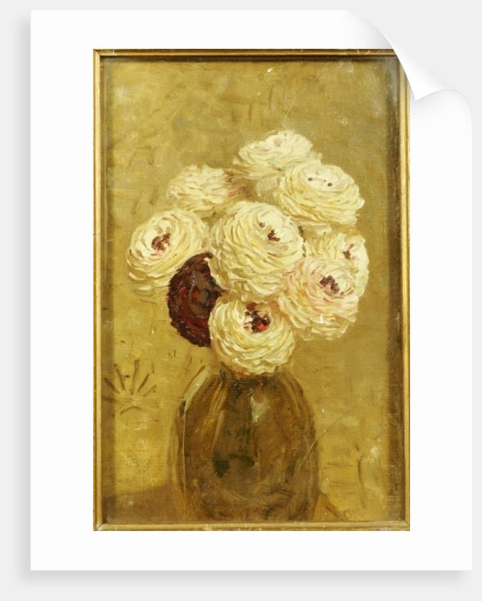 A Vase of Dahlias by Albert Joseph Moore