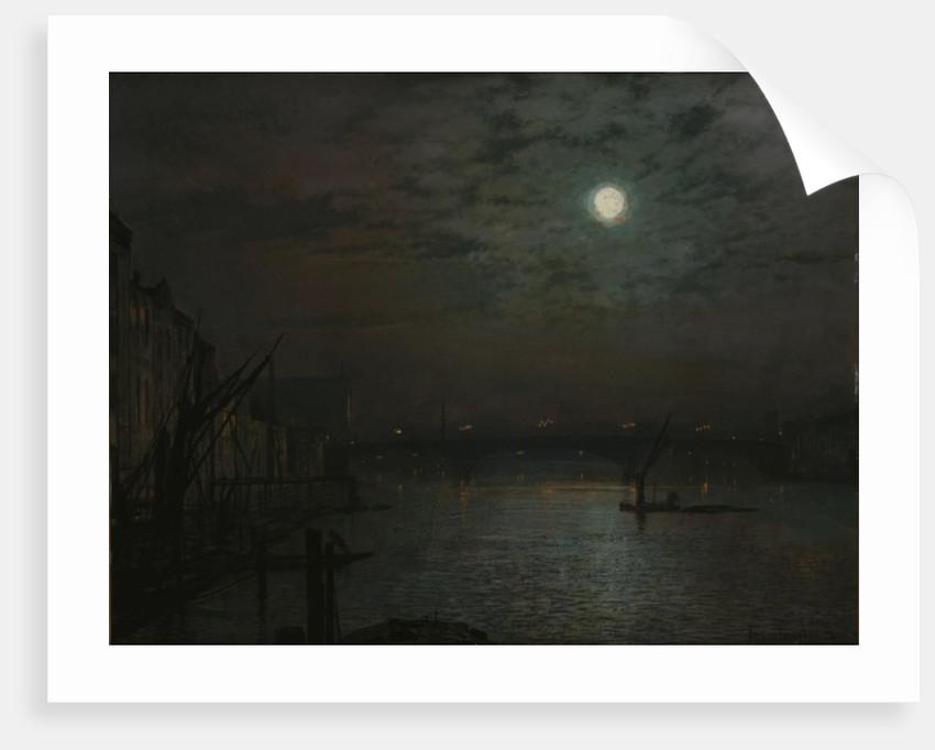 Southwark Bridge by Moonlight, 1882 by John Atkinson Grimshaw