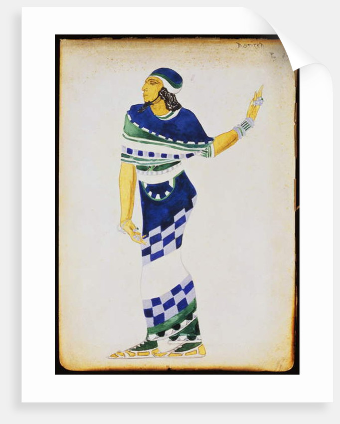 Costume design for a musician by Leon Bakst