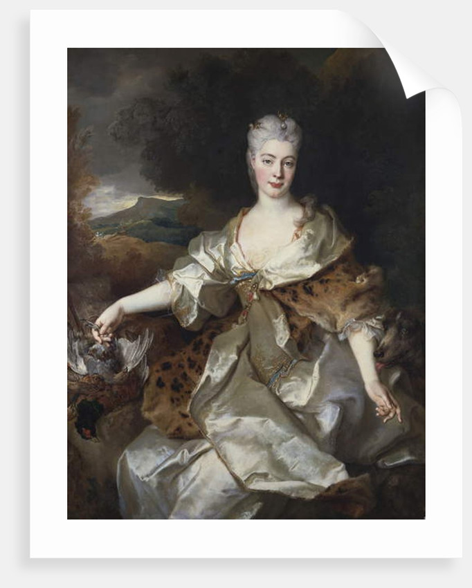 Portrait of the Countess of Noirmont as Diana by Nicolas de Largilliere
