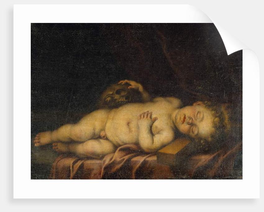 Christ Child Asleep on the Cross by Bartolome Esteban Murillo
