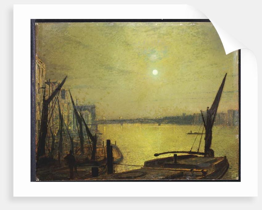 Southwark Bridge from Blackfriars by Night, 1881 by John Atkinson Grimshaw