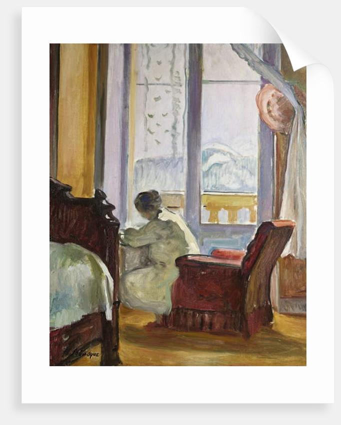 Woman Writing by Henri Lebasque