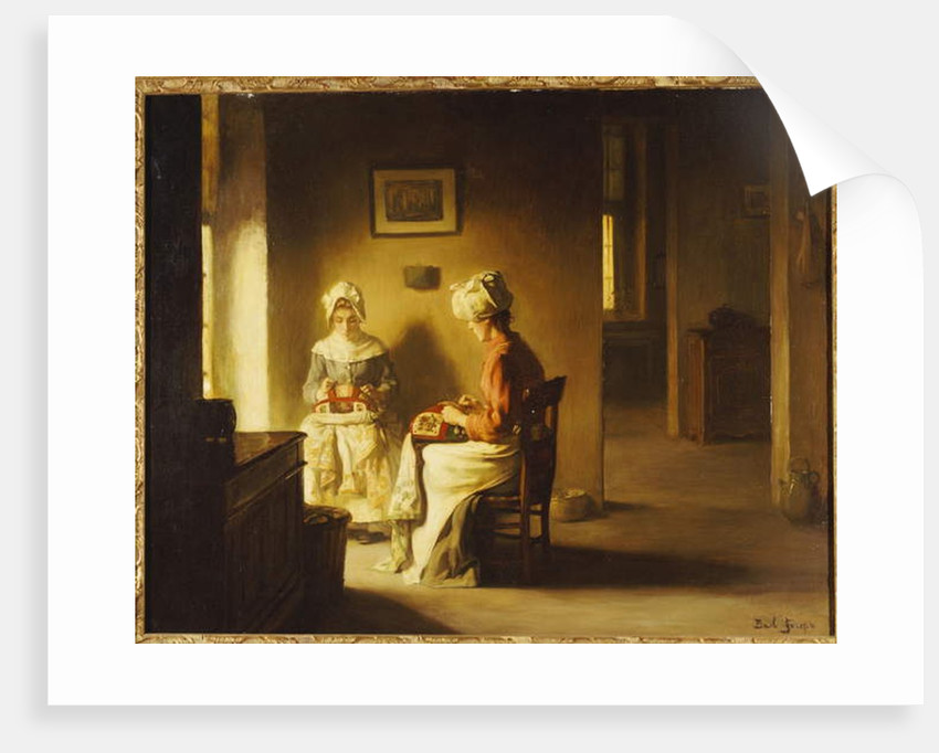 Seamstresses in an Interior by Joseph Bail