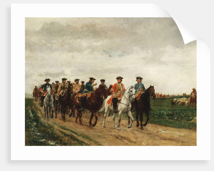 Marshal Saxe and his Troops, 1866 by Jean-Louis Ernest Meissonier