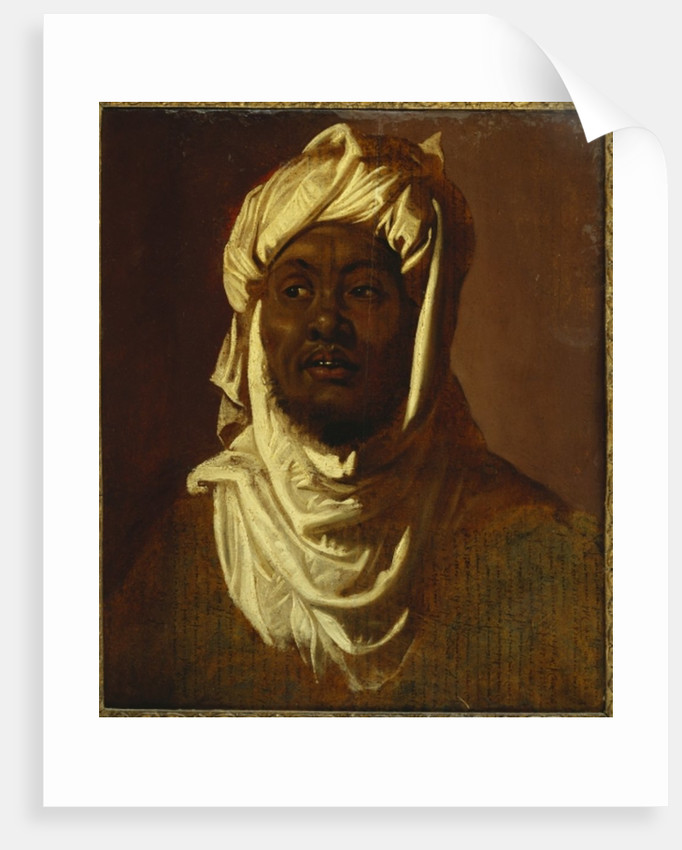 A African wearing a turban - a sketch by Peter Paul Rubens