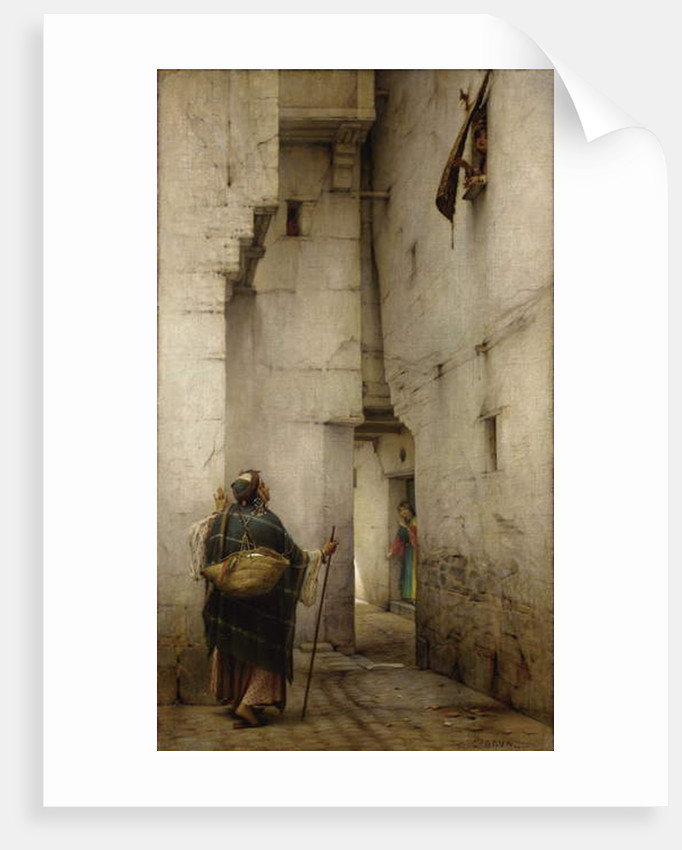 The Alley by Guillaume Charles Brun