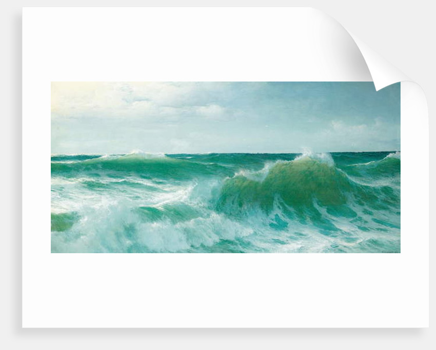 A breaking wave, 1894 by David James