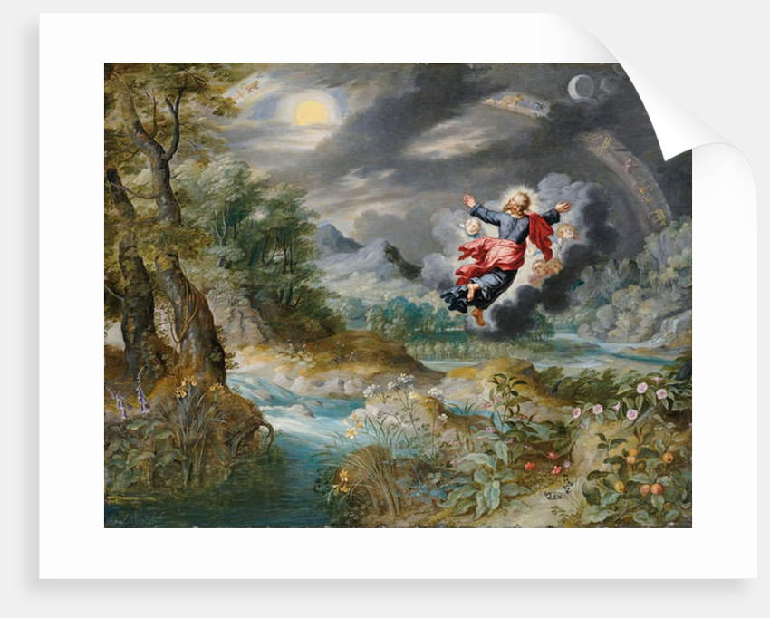 God creating the sun, the moon and the stars in the Firmament, c.1650 by Jan the Younger Brueghel