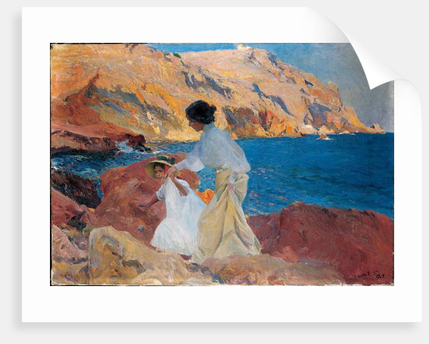 Clotilde and Elena on the Rocks, Javea, 1905 by Joaquin Sorolla y Bastida