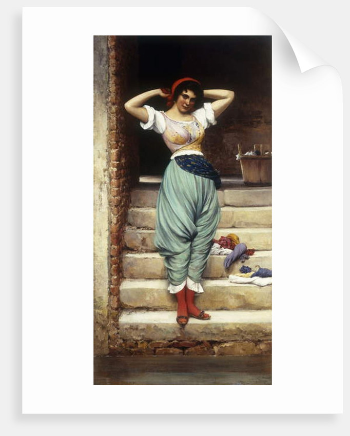 The Washerwoman, 1878 by Eugen von Blaas