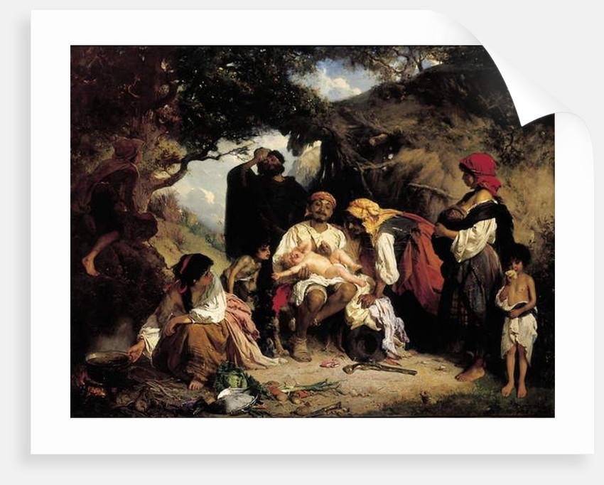 The Foundling, 1861 by Heinrich Wilhelm Schlesinger