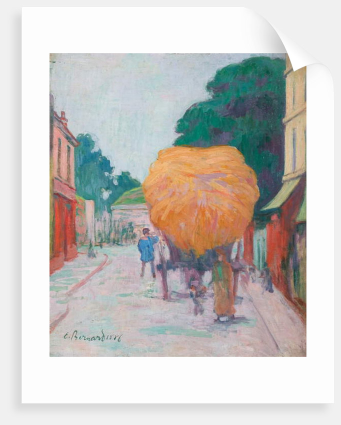 The Gate of Asnieres: The Char of Hay, 1886 by Emile Bernard