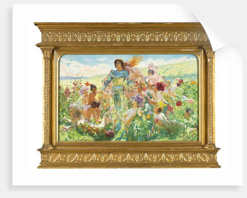 Le chevalier aux fleurs by Georges Marie Rochegrosse
