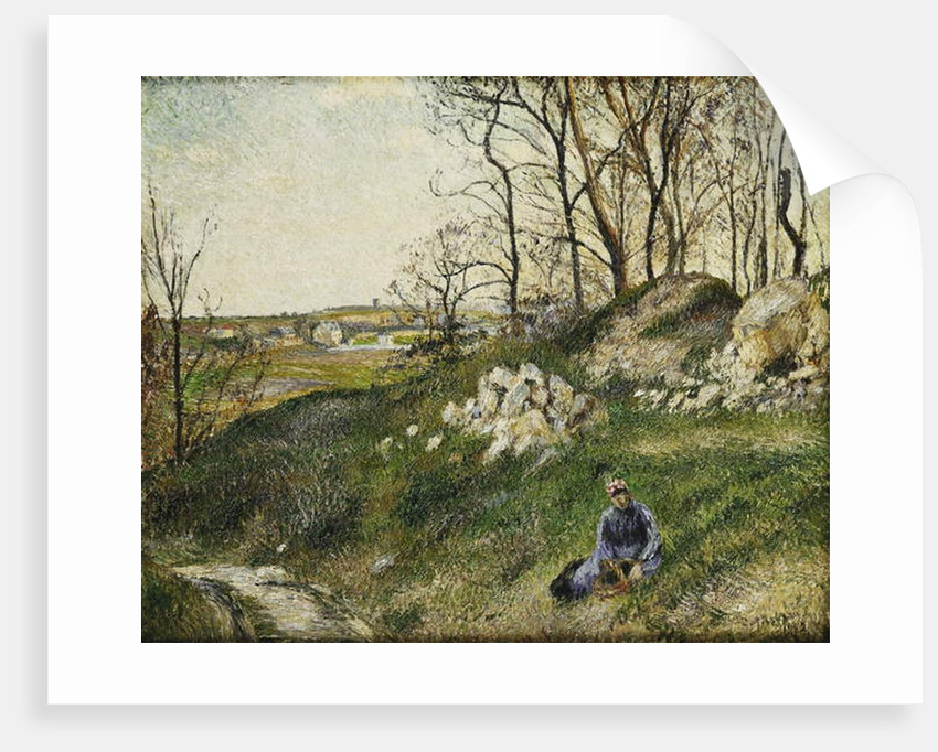 The Cabbage Pickers, Pontoise by Camille Pissarro