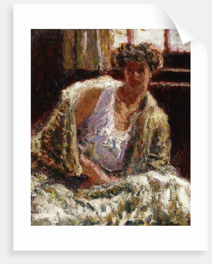 Woman with back light by Roderic O'Conor
