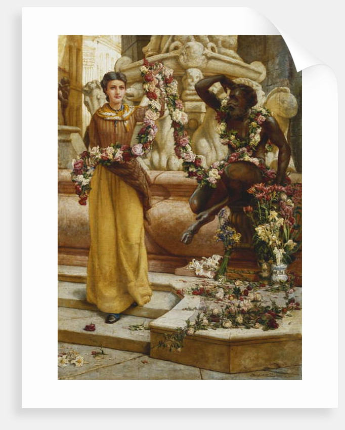 The Flower Garland, 1900 by Francis William Topham