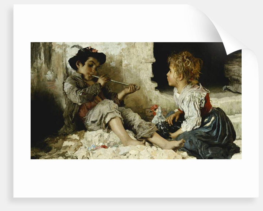 A Captivated Audience, 1876 by Adriano Bonifazi