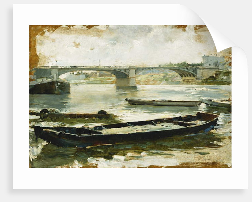 Barges on the Seine, Paris by Ludovico Marchetti