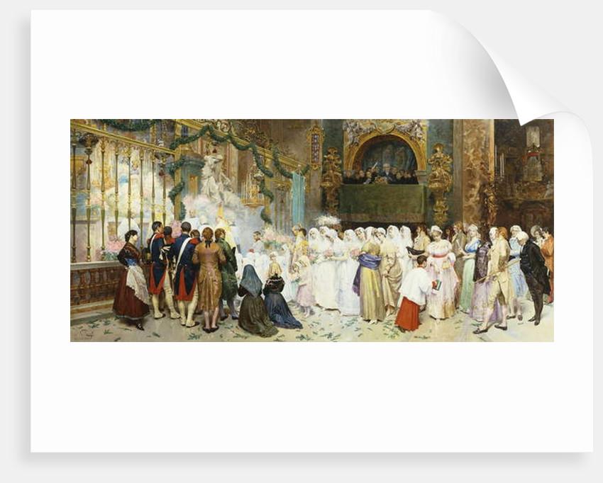 Confirmation Mass, 1870 by Giulio Rosati