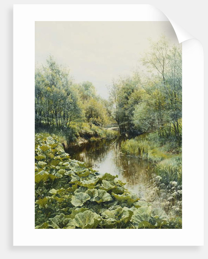 Summerday at the Stream by Peder Monsted