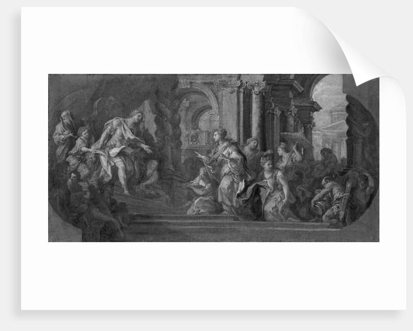 Solomon and the Queen of Sheba by Sebastiano Conca