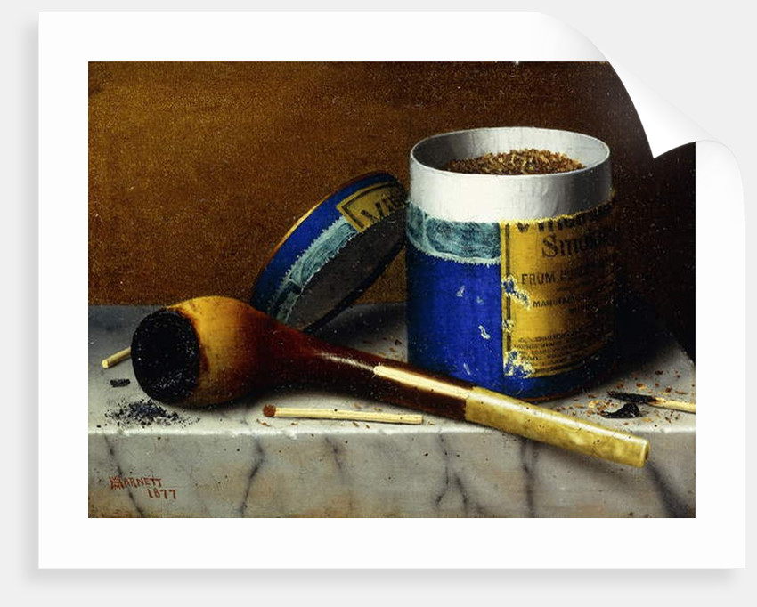 Tobacco and Pipe, 1877 by William Michael Harnett