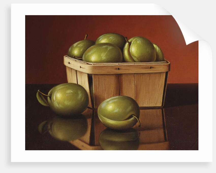 A Basket of Plums by Levi Wells Prentice