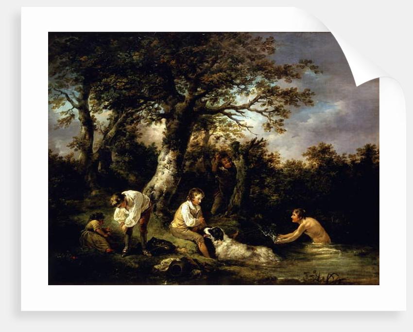 Boys Bathing by George Morland