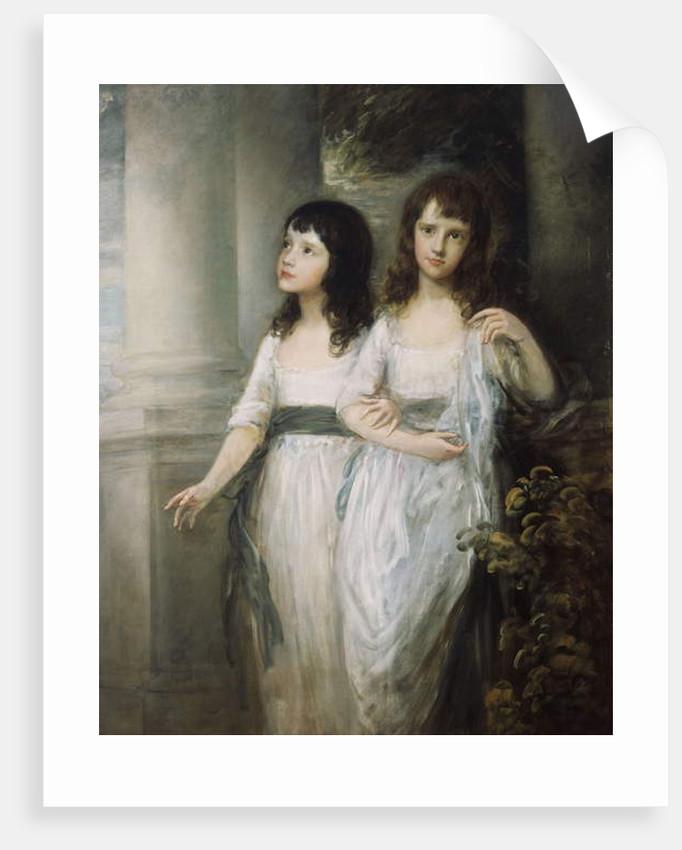 A Group Portrait of the Misses Sloper by Thomas Gainsborough