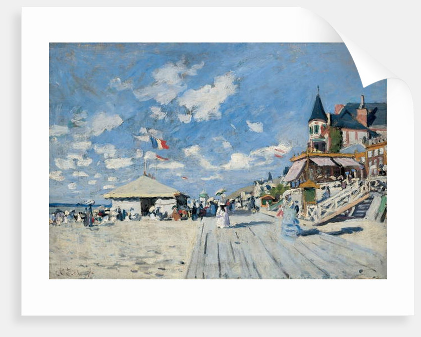 On the Beach at Trouville, 1870 by Claude Monet