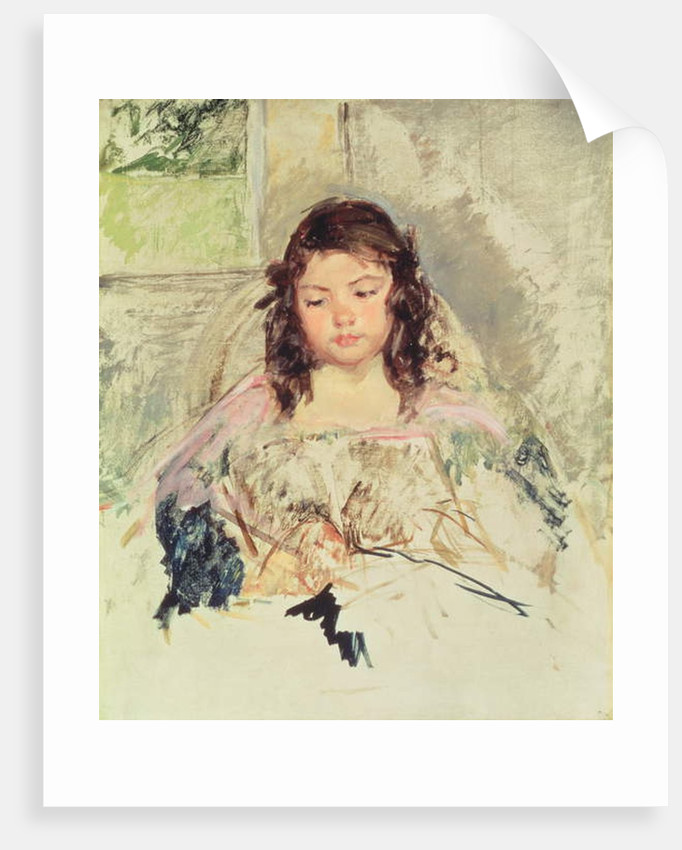 Sketch for 'Francoise in a Round-Backed Chair, Reading' or 'A Girl in Pink' c.1908 by Mary Stevenson Cassatt