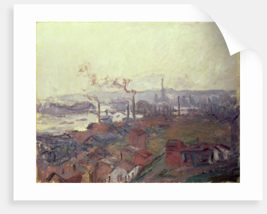 General View of Rouen from St. Catherine's Bank, c.1892 by Claude Monet