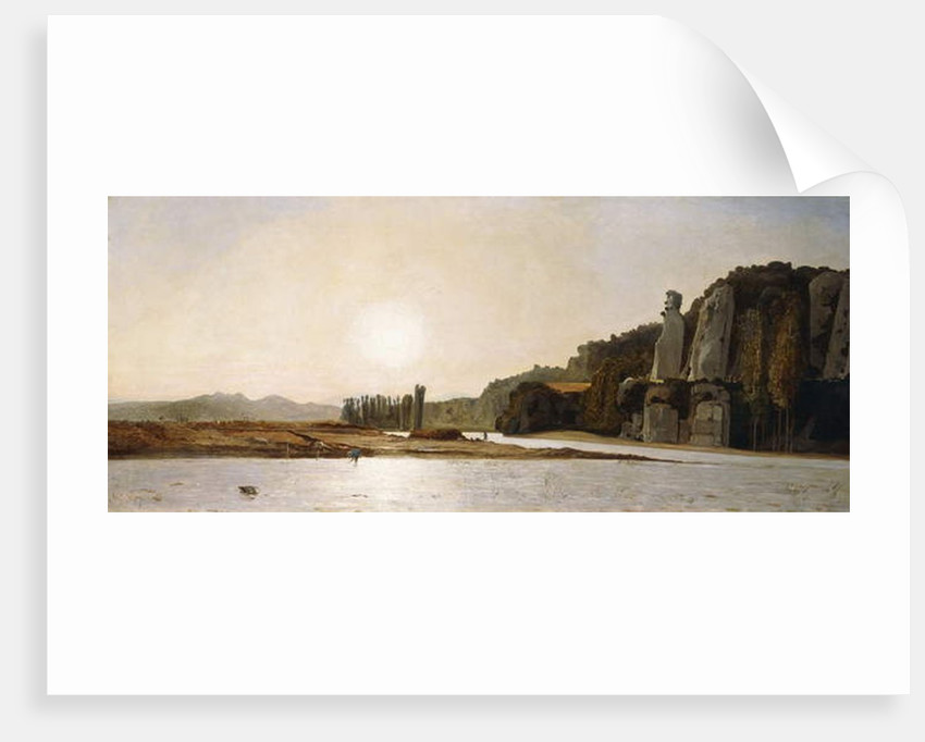 Sunrise on the Banks of the Durance at Mirabeau, 1865 by Paul Camille Guigou