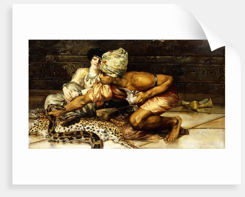 The Snake Charmer, 1884 by Eugene Pavy